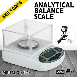 8411779f025 200 / 0.001g 1mg Digital Precision Scale Lab Analytical Balance Top ...