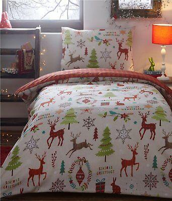Effizient Schön Weihnachten Bettwäsche Doppelbettwäsche Set Midwinter Bäume Rentiere Spezieller Kauf Bettwäschegarnituren