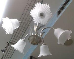 Lampadari In Ferro Battuto Bianco : Lampadario in ferro battuto e uno vintage arredamento e