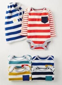 Ex Baby Boden Boys Stripe Bodysuits Vests Age Newborn 0 3 12 18 24 36 Months Ebay