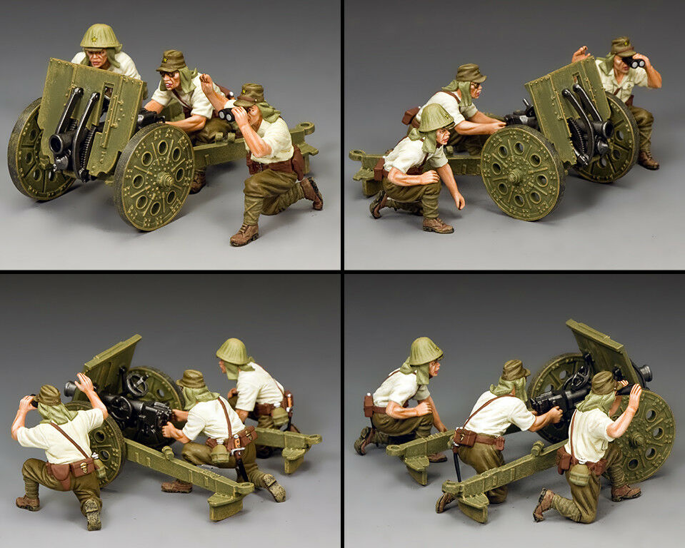 KING & COUNTRY WW2 JAPANESE NAVY JN045 LIGHT HOWITZER & CREW MIB