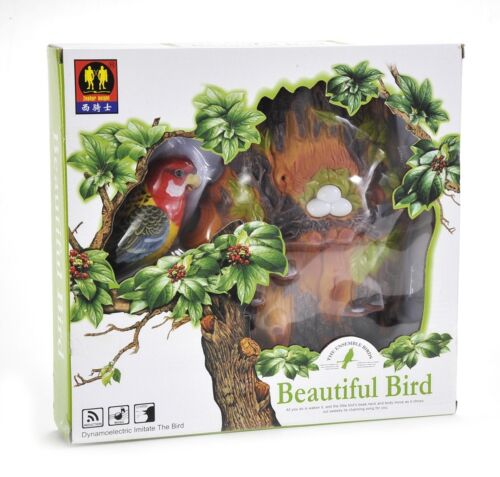 Realistic Parrot Chirps /& Tweeps Motion Sensor Gift Set Desktop Display New