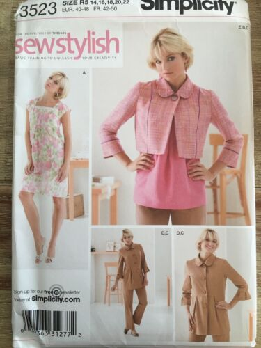 Simplicity #3523 Misses'Petite Dress, Top, Jacket, & Slim Pants