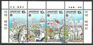1-Singapore-Used-NTUC-25th-Anniversary-Stamps-Year-1986