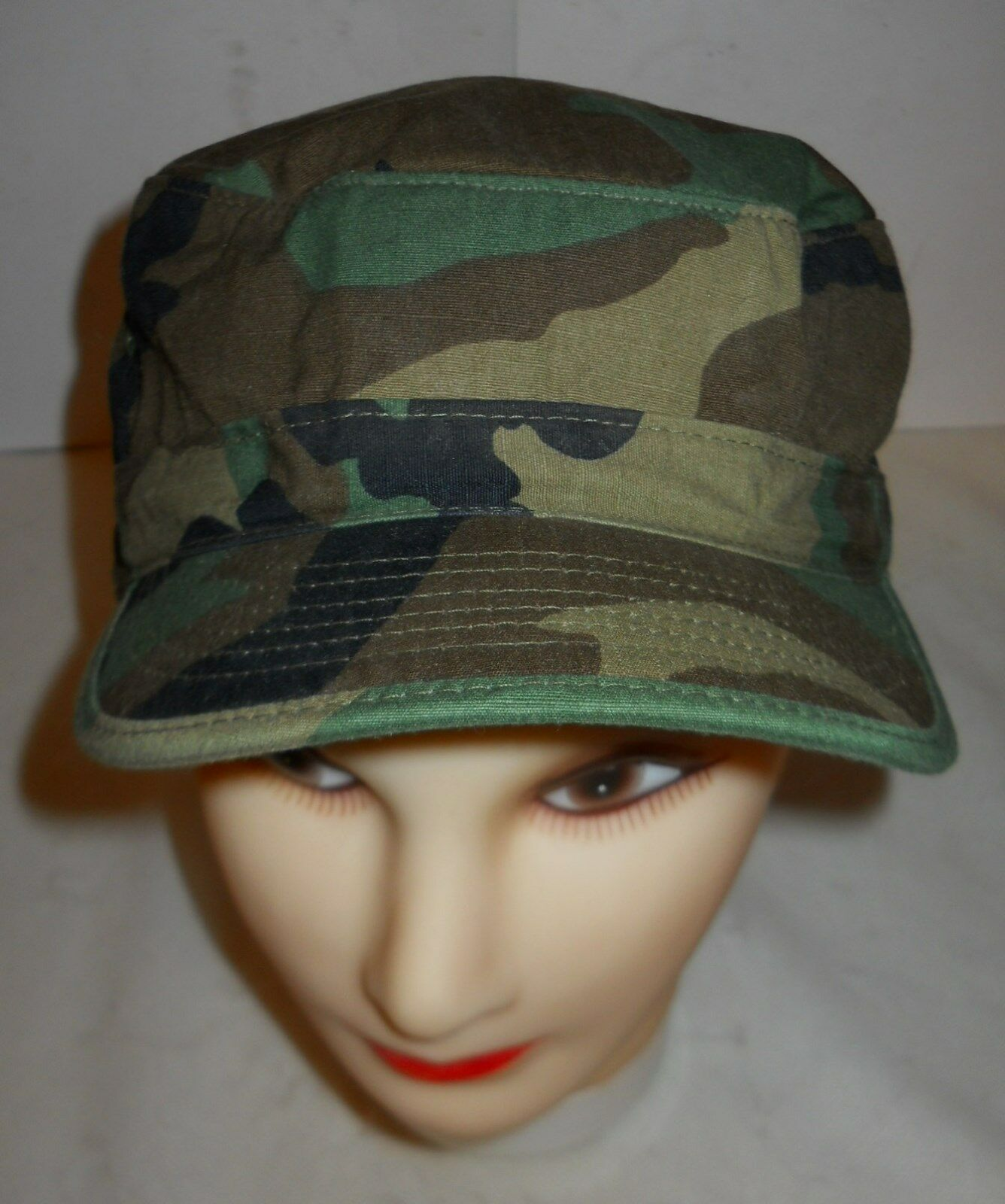 """GI WOODLAND 50//50 NYCO RIPSTOP HOT WEATHER CAP SZ OLD STOCK! 7 5//8 23 1//2/"""""""