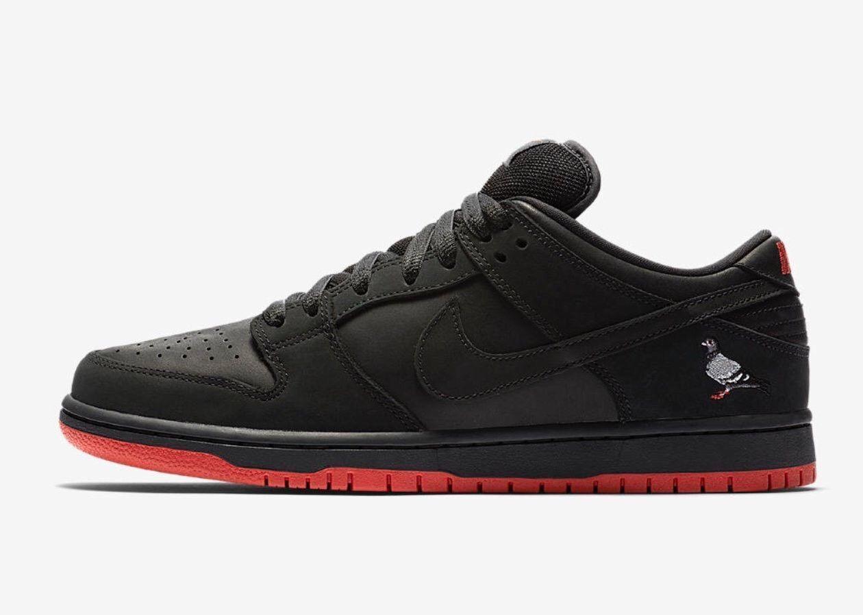Nike sb nero piccione schiacciare basso (46) (883232-008) concetti brutto maglione qs
