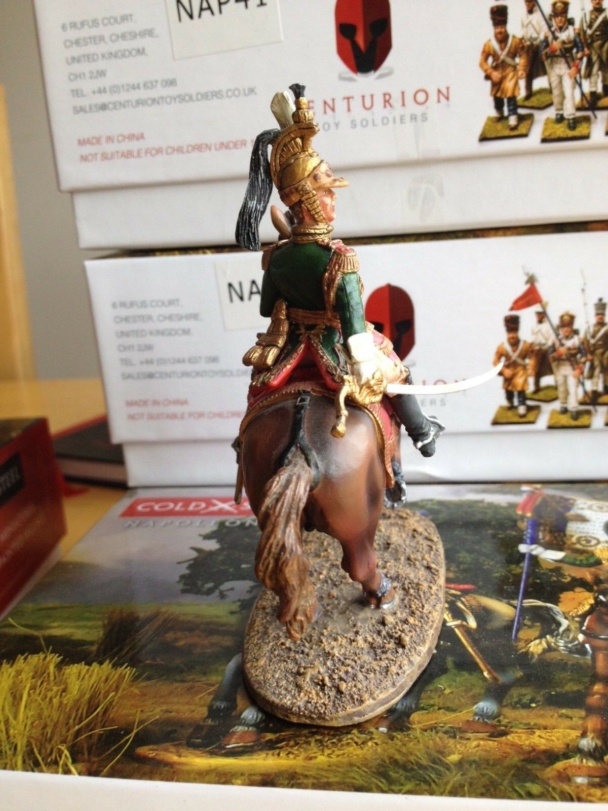 Colonel of the Empress Dragoons Nap 40 Cold Cold Cold Steel Miniatures 62f8a4