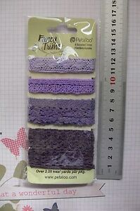 PURPLES-Mixed-CROCHET-LACE-amp-TRIM-4-Styles-Each-50cm-Long-Petaloo-1482-104