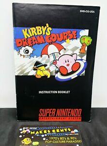 Kirbys dream course instruction manual