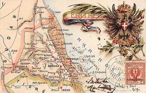 Cartina Eritrea.C3743 Colonia Eritrea Carta Geografica Viaggiata Il 14 2 1905 Da Asmara Ebay