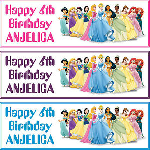 2-x-personalized-birthday-banner-party-DISNEY-princess-boys-girls-any-name-ages