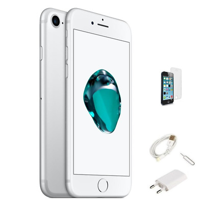 IPHONE 7 RICONDIZIONATO 32GB GRADO A BIANCO SILVER ORIGINALE APPLE RIGENERATO