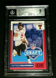 BGS-9-POP-4-PATRICK-MAHOMES-II-SP-RC-RED-NFL-DRAFT-ROOKIE-NONE-HIGHER-2017-Score