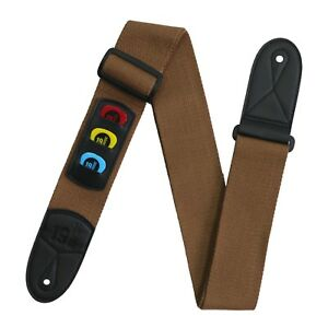 Details about New Brown Cotton Guitar Strap Pick Holder Free Picks  Plectrums Folk Classic Jazz