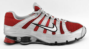 MENS NIKE SHOX TURBO OH + RUNNING SHOES SIZE 11.5 SILVER RED GRAY ... 630259927