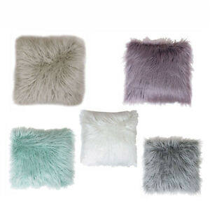 Discount Throw Pillows Mongolian Fur For Couch Animal Light Weight Large Floor eBay