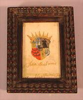 Altes handgemaltes Bild von 1667 Graf H F Fugger Kirchberg  und zu Weissenhorn