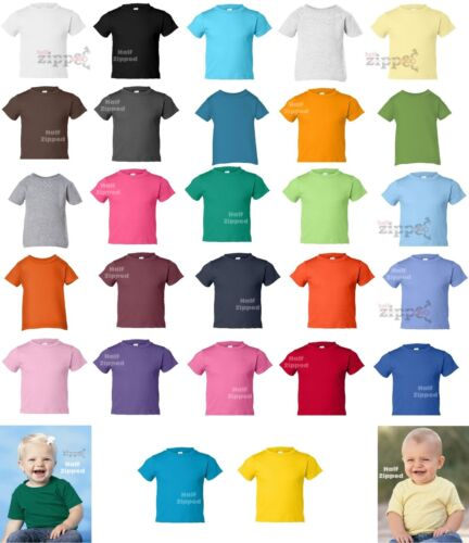 37 Colors Rabbit Skins Infant Short Sleeve Cotton T-Shirt 3401 6M 12M 18M 24M