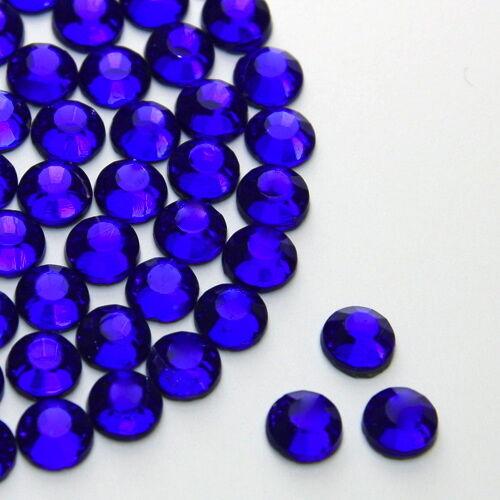 Brillantes Diamantes De Imitación De Gemas De Zafiro Oscuro Talla 2,3,4,5,6mm Pegamento En/hotfix-ver