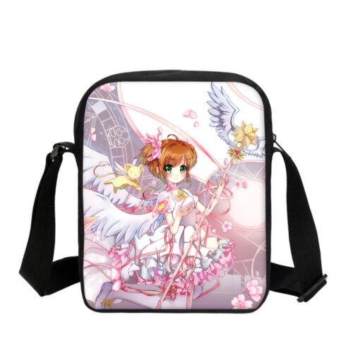 Sakura Anime Kid/'s Schoolbag Girl Large Backpack Cross Body Bags Pencil Case LOT