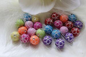 Acryl-Strass-Effekt-Perlen-10-mm-Schmuckbasteln-Mix-Grosspackung-Hobby-DIY