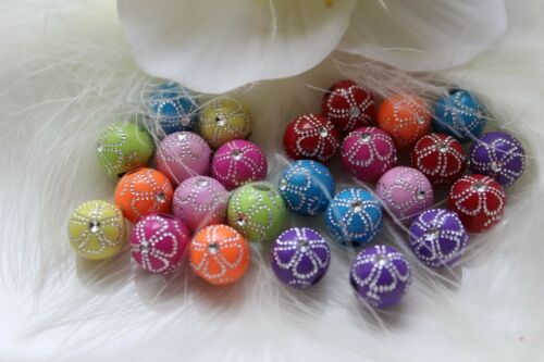 Acrylique Strass Effet Perles 10 mm Bijoux Bricolage Mix Emballage Multiple Hobby À faire soi-même