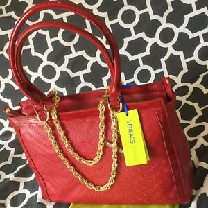 95ad3e16994 $599 BNWT Versace Jeans Red Handbag Shoulder Bag - Authentic with ...