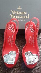 online store e8661 dcaef Dettagli su Autentico Melissa X Vivienne Westwood Lady Dragon CUORE SCARPE  TACCHI ALTI UK5 US7 EU36- mostra il titolo originale