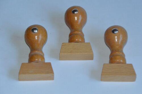 3 x Holzstempel Stempelkörper Rohling Stempel 35x12 117