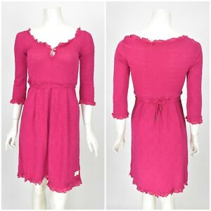 Womens-Odd-Molly-471A-Tunic-Dress-Cotton-Pink-Short-Sleeve-Size-1-S