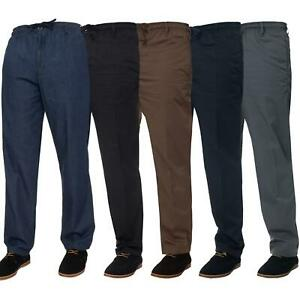 Mens-Rugby-Trousers-Kruze-Elasticated-Waist-Drawstring-Pants-Regular-King-Sizes