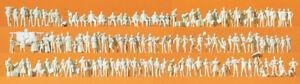 Preiser 79006 Spur N Figuren, Reisende Passanten unbemalt 125 Stück #NEU in OVP#