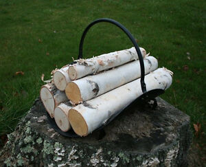 White Birch Log Set For Fireplace Ebay