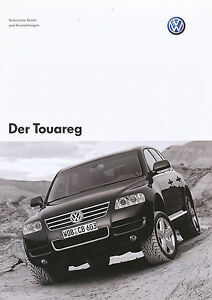 Vw Touareg Prospekt Technische Daten 203 2003 Autoprospekt