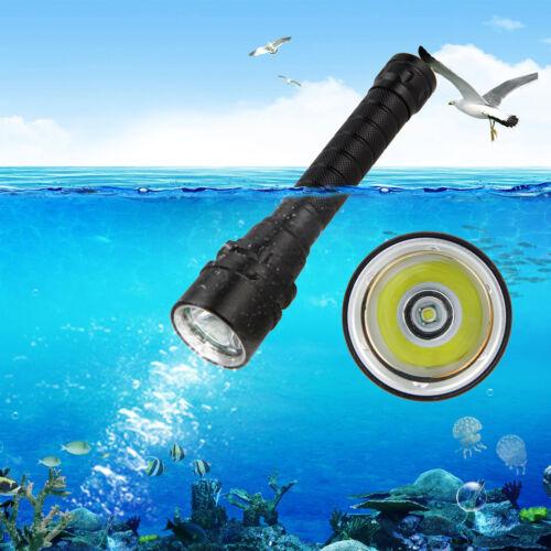 Waterproof 100m IP68 5000 Lumens XML T6 LED Diving Flashlight Torch Light