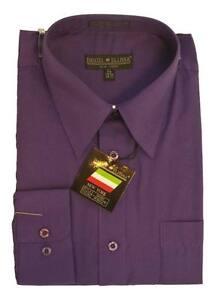 New-Daniel-Ellissa-Mens-Fashion-Dress-Shirt-Purple-DS3001