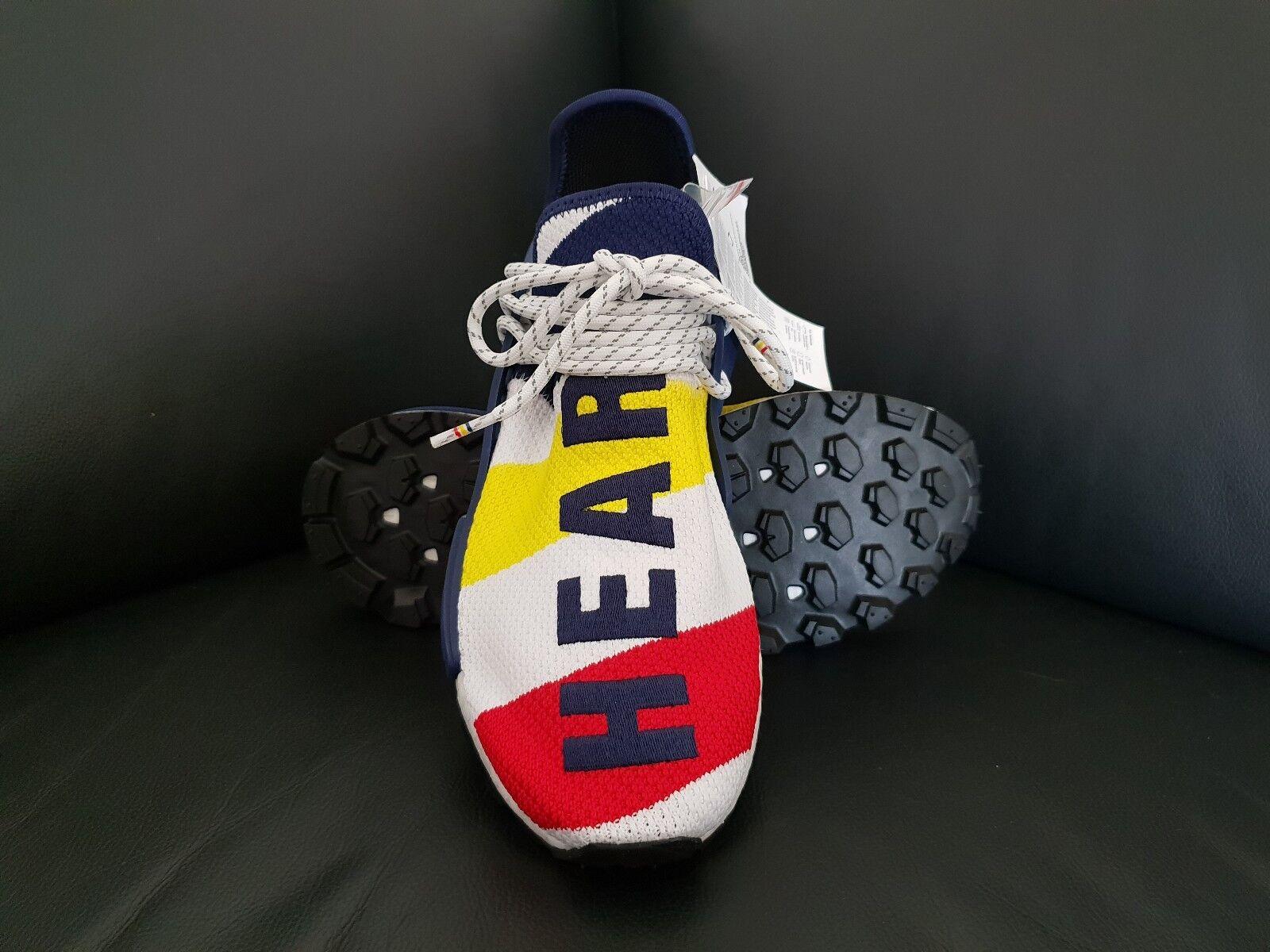 Adidas X Pharrell Williams X BBC NMD HU, Multi Coloreeee, (BB9544), 9.5 US