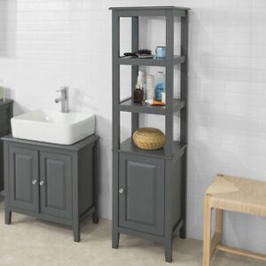 sobuy meuble colonne de salle de bain armoire toilette. Black Bedroom Furniture Sets. Home Design Ideas