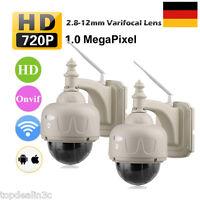 2x Outdoor Wifi Wireless Pan/tilt 4xzoom Cctv Security Ip Camera Night Vision