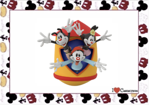 Hallmark-2020-Animaniacs-Yakko-Wakko-and-Dot-Christmas-Ornament-New-with-Box