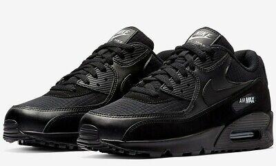 Mens Nike Air Max 90 Essential Trainers Black White AJ1285 019 UK 8.5_9.5_10 | eBay