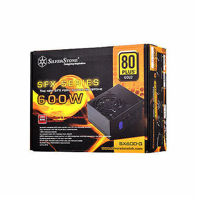 Silverstone SST-SX600-G Semi-Fanless SFX/ATX Modular 600W Power Supply