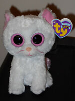 CASHMERE new 2011 TY Beanie Babie Boo Boo's white CAT Toys