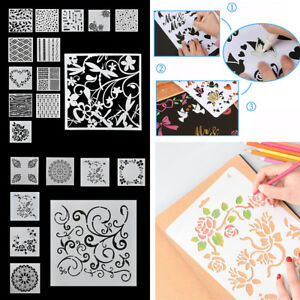 Lot-7-13pcs-set-Layering-Stencils-Wall-Painting-Embossing-Template-Scrapbooking