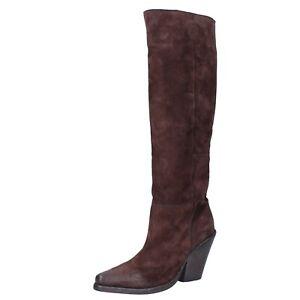 Donna: Scarpe MOMA 8 (EU 41) stivali marrone in pelle scamosciata BJ638-41