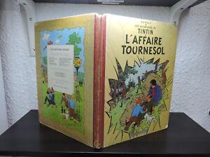 Tintin-l-039-affaire-tournesol-EO-1956-B19-edition-Francaise