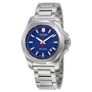 Victorinox-Swiss-Army-I-N-O-X-Blue-Dial-Men-039-s-Watch-241724-1