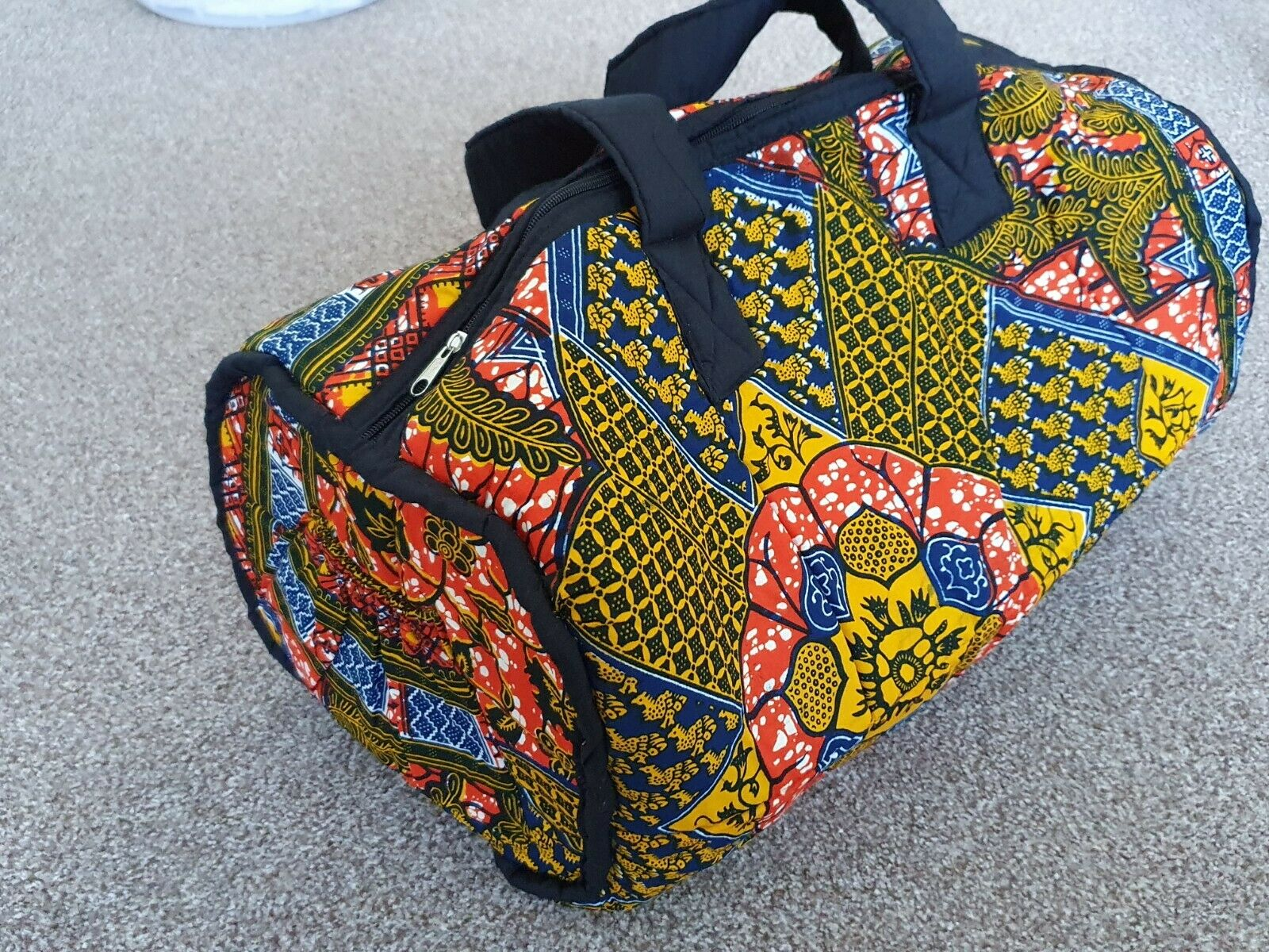 Multi Coloured African Print Duffel Bag