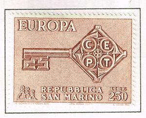 San Marino Europe CEPT stamp 1968 MLH