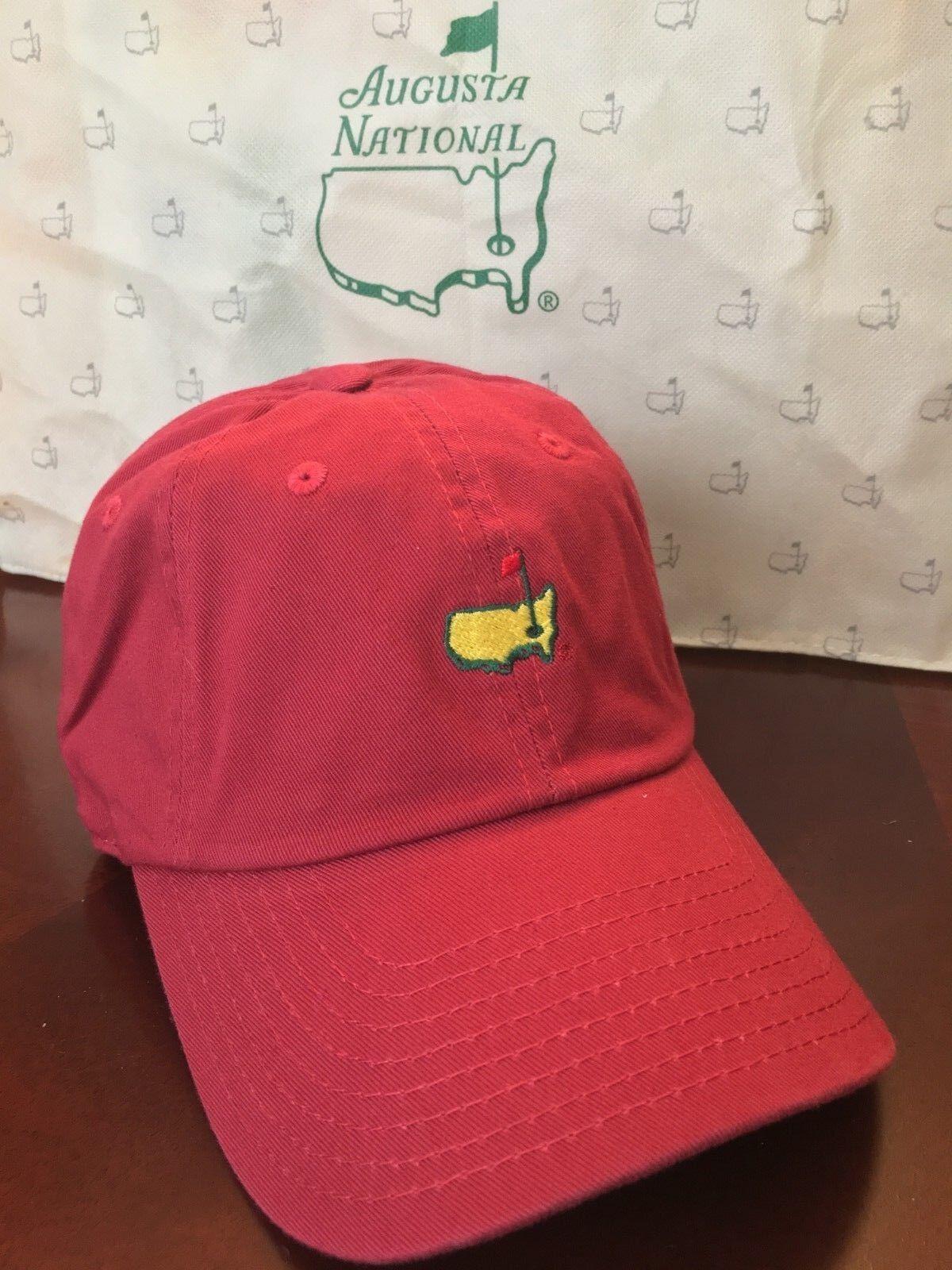 Augusta National miembros logotipo en rojo-sólo Sombrero muy raro no maestros del artículo ANGC